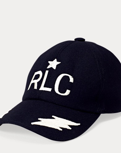 Embroidered Wool Baseball Cap