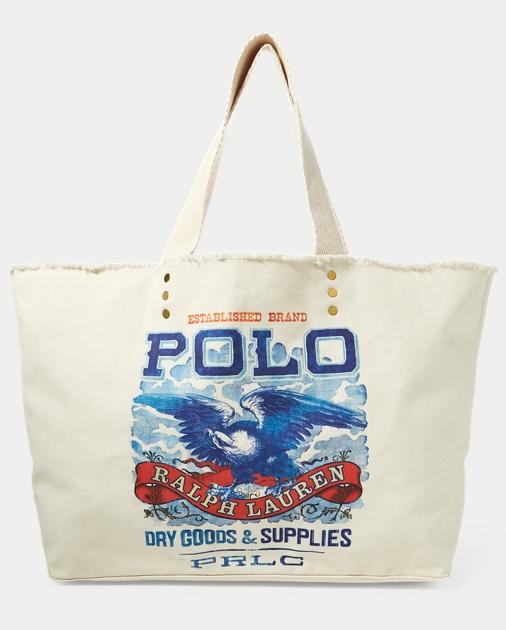 Eagle-Print Large Tote Bag 80c15d3017e68