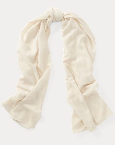 Wool-Cashmere Wrap Scarf