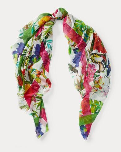 Floral Cotton-Blend Scarf