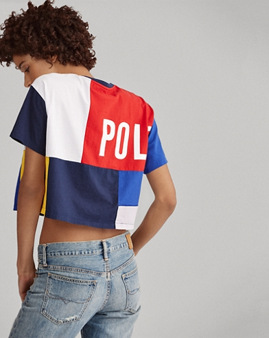 CP-93 Color-Block Cropped Top