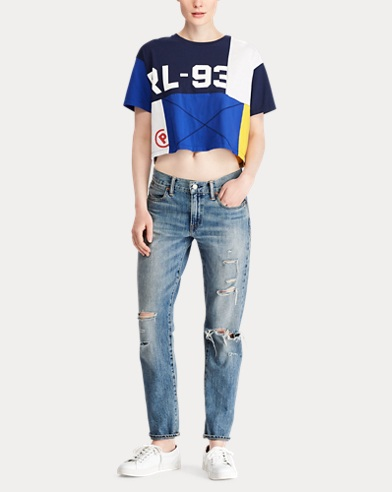 0852886f2ae1b CP-93 Color-Block Cropped Top. Polo Ralph Lauren