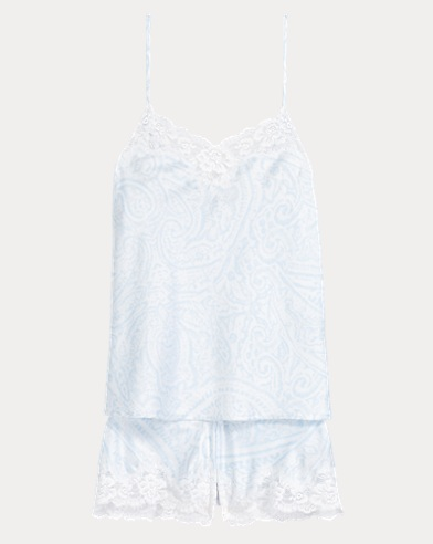 Satin Lace Cami Pajama Set