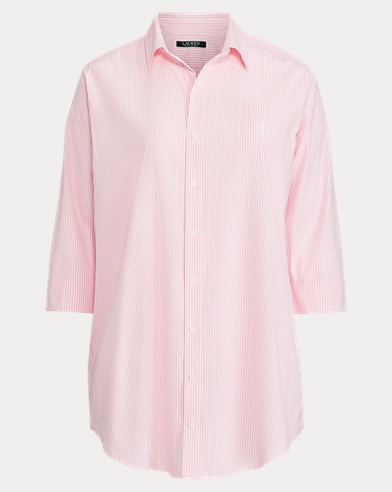 Striped Cotton Sleep Shirt