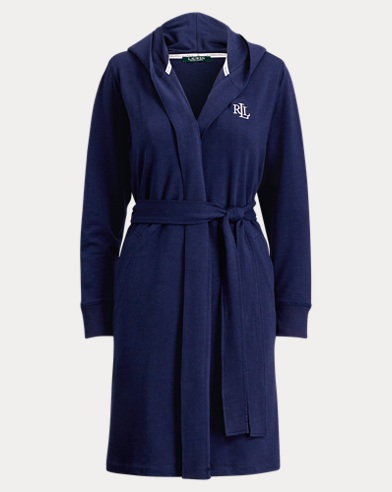 French Terry Hooded Robe
