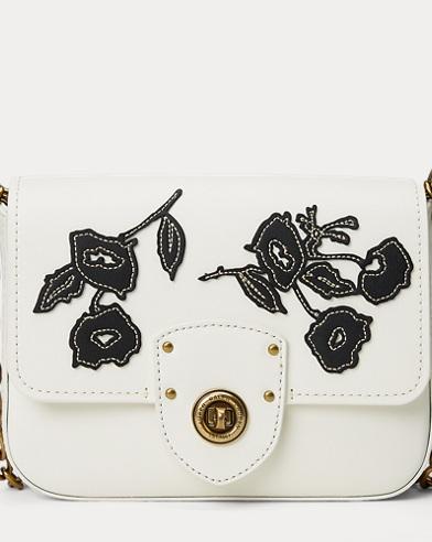 Floral Leather Crossbody Bag