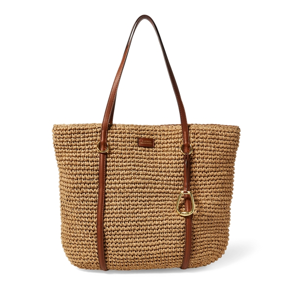 Ralph Lauren Straw Tote Natural One Size