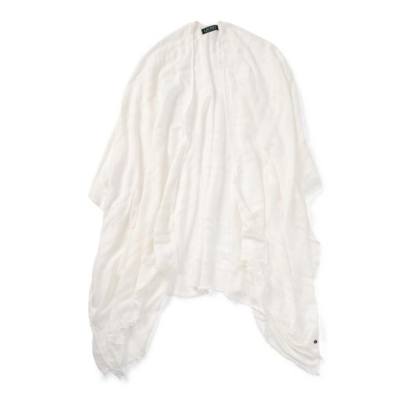 Ralph Lauren Sheer Blanket Scarf Cream One Size