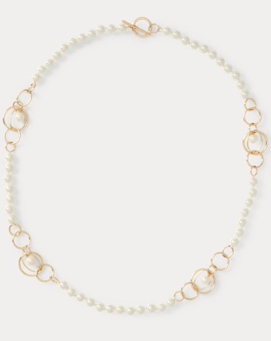 Glass-Pearl Strand Necklace