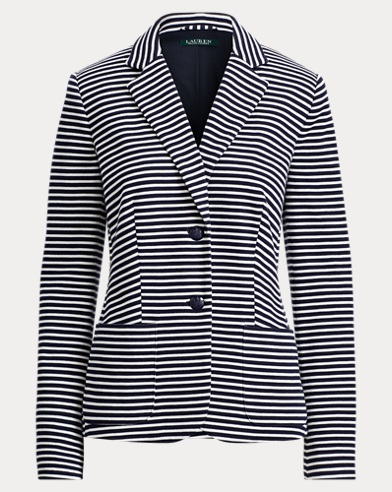 Striped Knit Cotton Jacket