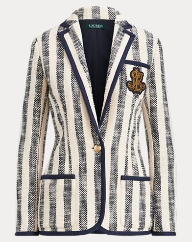 Striped Cotton Boucle Blazer