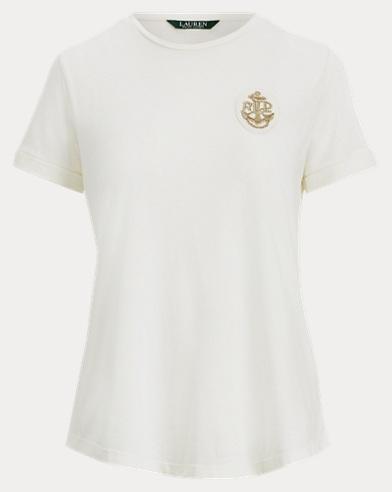 Baumwoll-T-Shirt mit Kantille