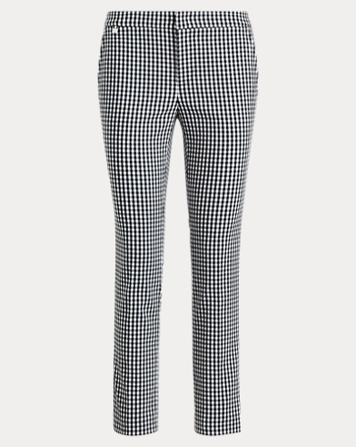 Gingham Stretch Skinny Pant