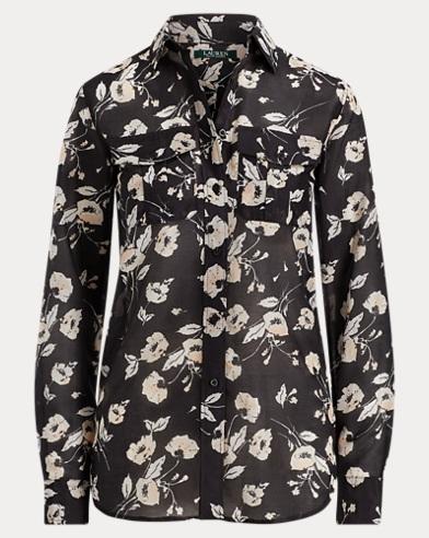 Camicia button-down a fiori