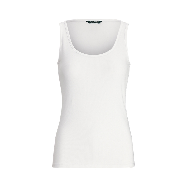 폴로 랄프로렌 탱크탑 Polo Ralph Lauren Cotton-Blend Tank Top,White
