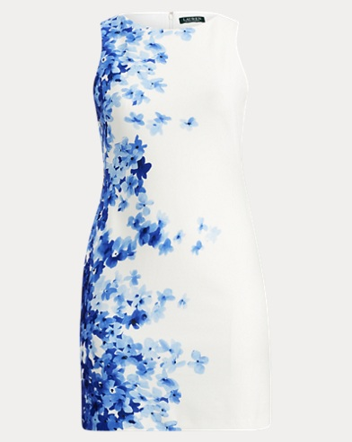 Floral Crepe Sleeveless Dress