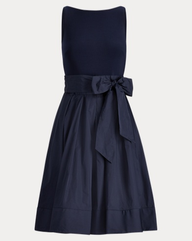 Taffeta-Skirt Dress