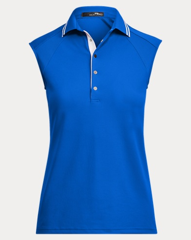 Mesh Sleeveless Polo Shirt