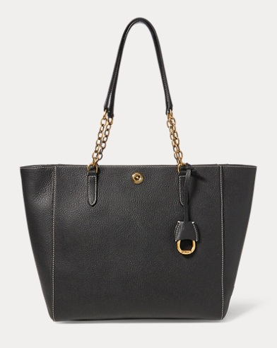 Chain-Link Leather Tote