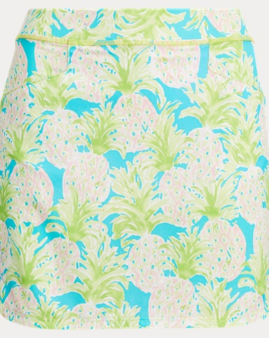 Pineapple-Print Golf Skort