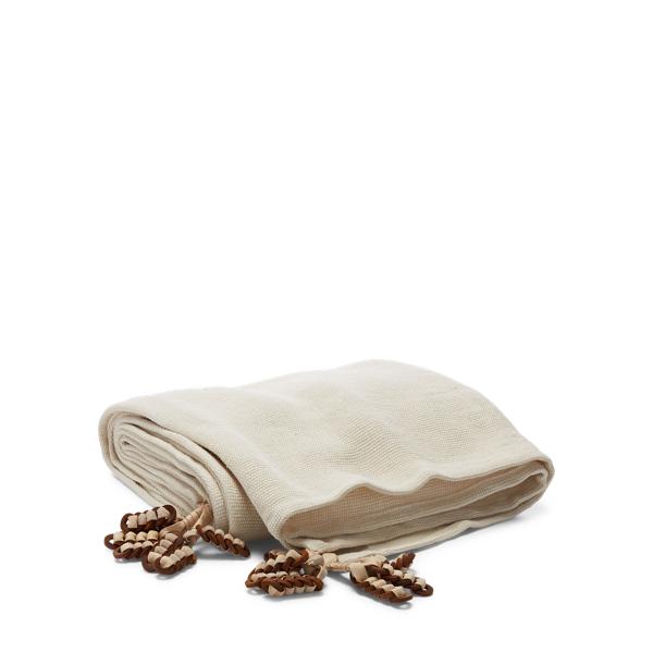 Ralph Lauren Lowden Linen Throw Blanket Light Cream 54