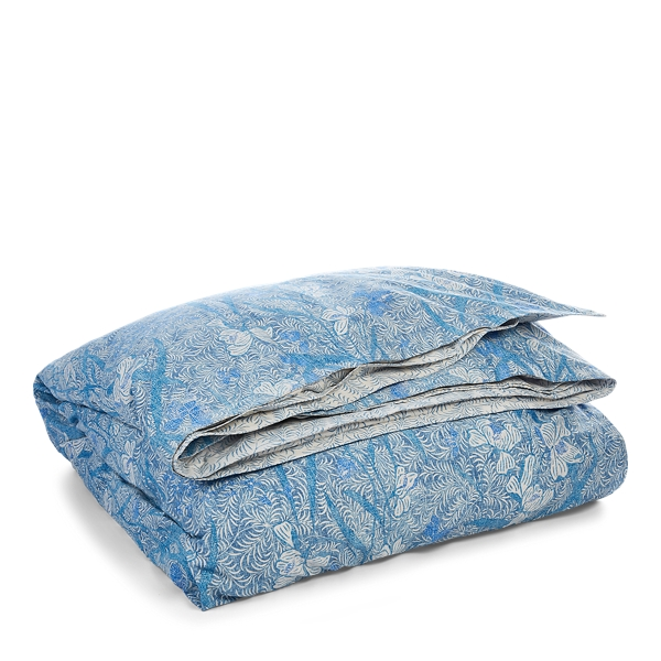 Ralph Lauren Kaley Floral Sateen Comforter Blue Multi Full/Queen