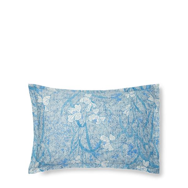 Ralph Lauren Norport Sateen Euro Sham White And Blue Euro