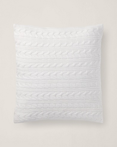 Davies Cable-Knit Throw Pillow