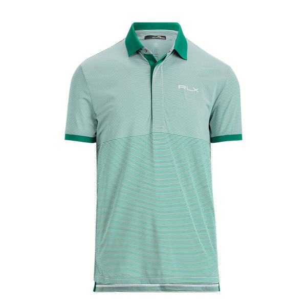 Ralph Lauren Custom Slim Performance Polo Pure White/Bush Green Xl