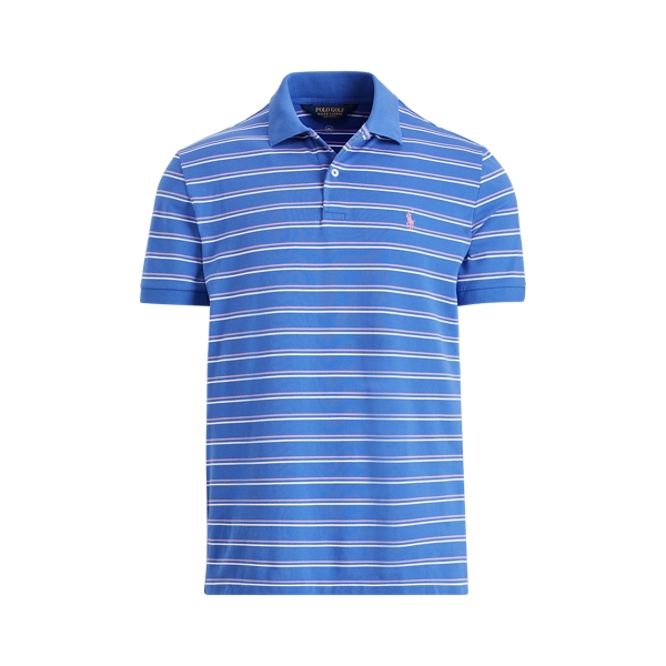 Ralph Lauren Custom Slim Performance Polo Royal/New Hibiscus/White Xxl