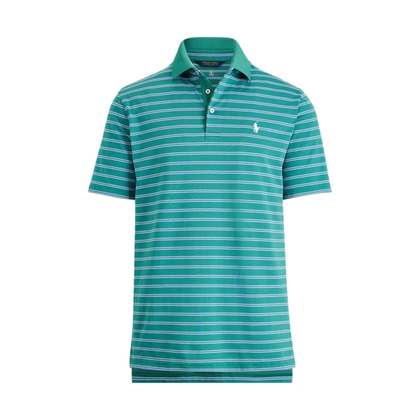 Ralph Lauren Active Fit Performance Polo Green/Summer Royal/White L