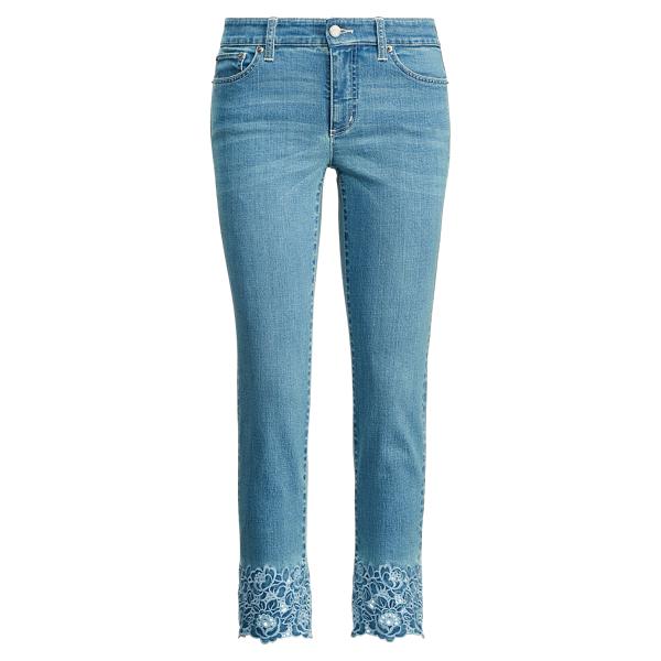 Ralph Lauren Premier Skinny Crop Jean Dream Blue Wash 12