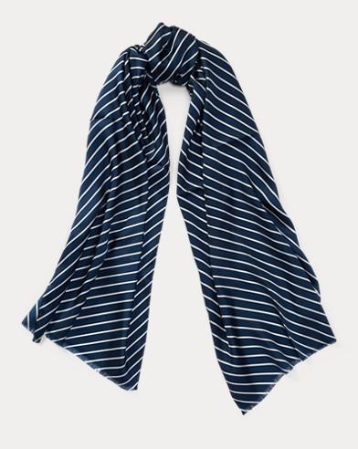 Chevron-Stripe Silk Scarf