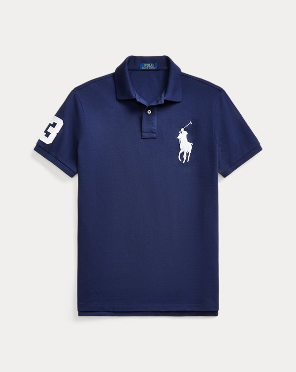 Custom-Slim-Fit Polo aus Piqué