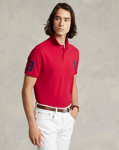 3af67c0ddf48 Custom Slim Fit Mesh Polo