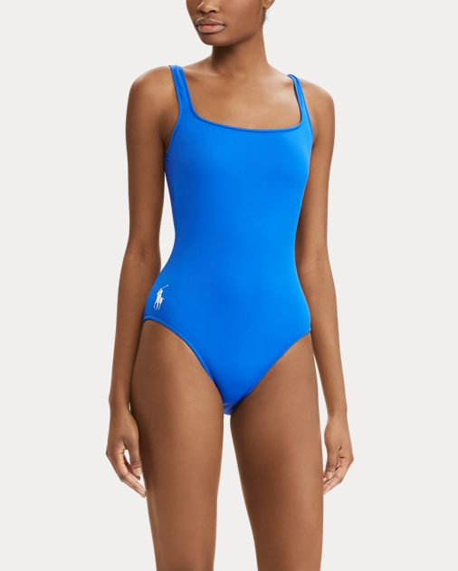 8e56a87a5f Polo Ralph Lauren Scoopback One-Piece Swimsuit 3