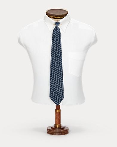 Handmade Silk Foulard Tie