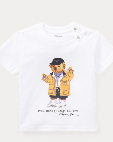 Raincoat Bear Cotton T-Shirt