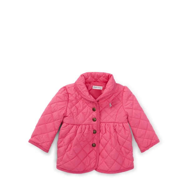 Ralph Lauren Quilted Barn Jacket Madison Pink 6M