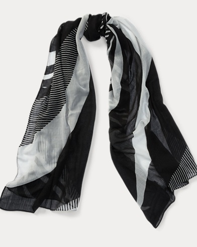 Mixed-Stripe Scarf