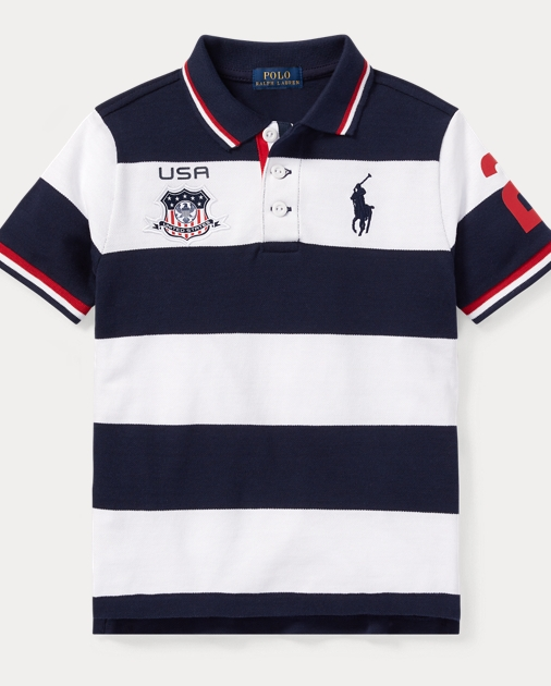 USA Cotton Mesh Polo Shirt   Ralph Lauren UK 4c3e34a3ffe