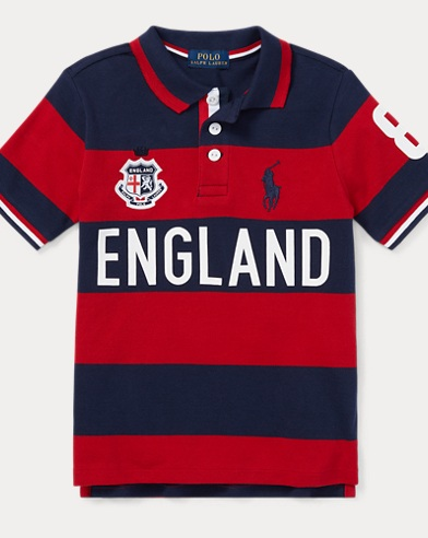 England Cotton Mesh Polo Shirt
