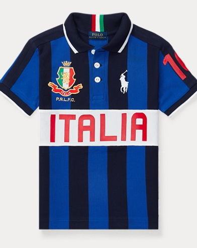 Italy Cotton Mesh Polo Shirt