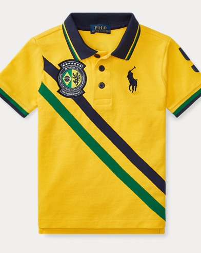 Brazil Cotton Mesh Polo Shirt
