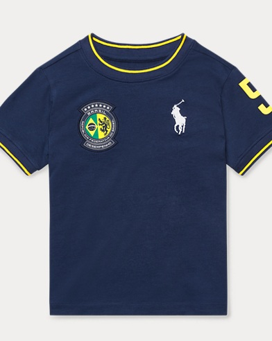Brazil Cotton Jersey T-Shirt