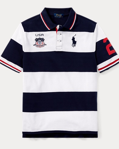 USA Cotton Mesh Polo Shirt