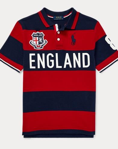 Polohemd England aus Baumwollpiqué