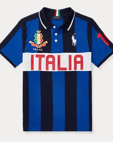 Polo en coton piqué Italie