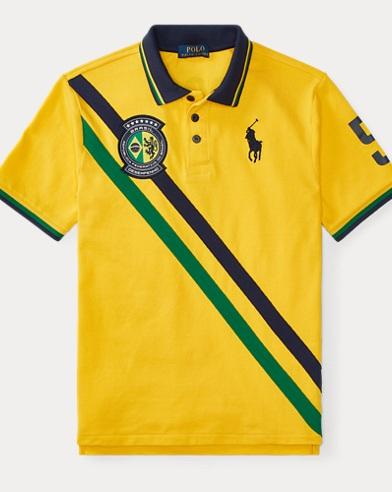 Polohemd Brasilien aus Piqué