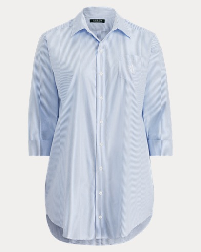 Striped Poplin Sleep Shirt